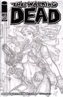 Claire Attacked sketch cover pencils by gb2k
