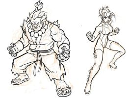 Akuma n Blair - WIP Commissions by EryckWebbGraphics