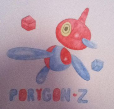 Porygon-Z Watercolour by Melodys-TARDIS