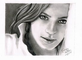 The Girl with the Pretty Eyes by emiely