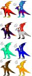 Adoptables Batch 1 -CLOSED- by Deathtail-The-DraCon
