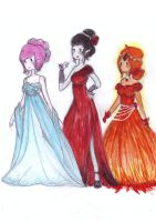 adventure time girls-elegant dress by NENEBUBBLEELOVER