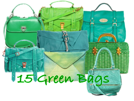 15 Green Bags PNG by JEricaM