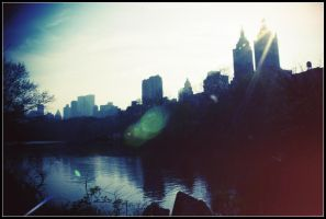Central Park Sunset by Bestarns