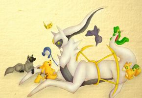 Arceus Loves His Children by MisttheWarrior