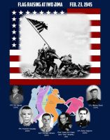 Flag Raising at Iwo Jima by dragonpyper