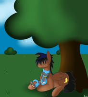 [Commission] Nap Under a Tree by Anidra