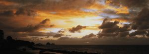 Sea on Sunset by Riddlez46