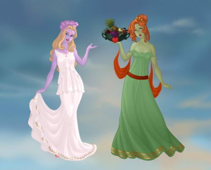 Disney Persephone and Demeter by girldolphin91