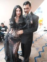 close up morticia and gomez metrocon 2014 by FiveFootFireStarter