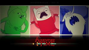 Retro Adventure Time Wallpaper by Mysterious-Master-X