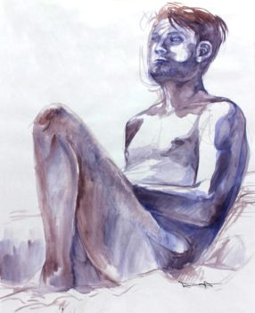 Ben Watercolor Study by fluffys-inu