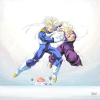 -Comission/FTrunks and Gohan train- by WarlockMaster