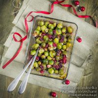 christmas brussel with cranberry and hazel nuts by Pokakulka