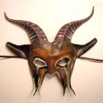 Crazy Carnival Goat Mask by teonova