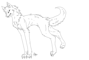 Woolf Lineart MS Paint friendly by ShockHazard