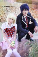 Ao no Exorcist - Shiemi and Rin by NunnallyLol
