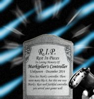 R.I.P. Markiplier's controller by Yukki-the-Slasher