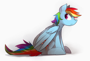 rainbow dash by Keponii