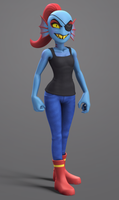 Undyne - Undertale model by Elesis-Knight