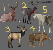 Wild Animals Batch (CLOSED) #4 open! by SinAdopts