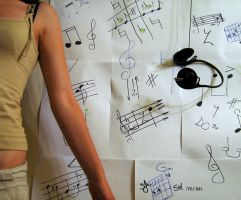 Music Invasion on Paper by CatifeaMataseSatin