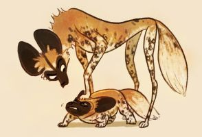 Wild Dogs by larkinheather