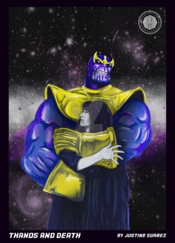 Thanos and Death by enitsujsuarez16
