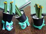 Bulbasaur Cactus Pot by pamtamarindo