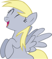 Derpy Happy by Spaceponies