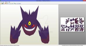Mega Gengar unfold done by javierini
