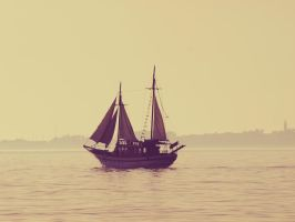 At sea. by ToniTurtle
