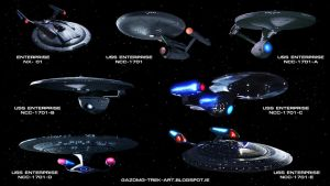 Star Trek the Enterprises by gazomg