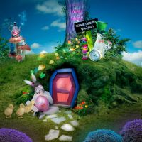 When the White Rabbit invites Easter Bunny by Fran-photo