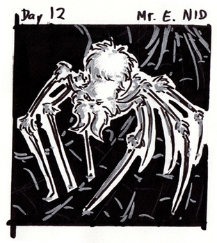 30characters - day 12 - mr. e. nid by not-fun