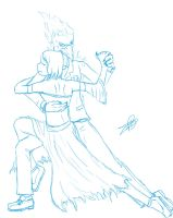 Dancing With the Gods sketch by BloodCri