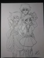 Sapphie And My OCs :D by Verliet427