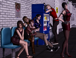 Street girls by Ygure