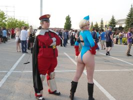 M. Bison photobombs Cammy by TheSpazOutLoud
