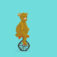 Unicycle Bear by hivernoir