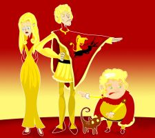 Joffrey, Tommen, and Myrcella by Sir-Heartsalot