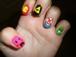 Gamer Nails by Happylod3
