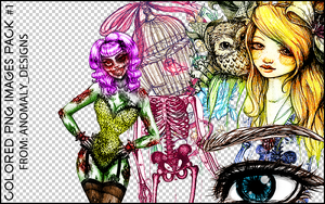 Colored Sketches PNG Pack 1 by britsnpieces