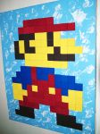 Wooden Tile Mario by graphicpoetry