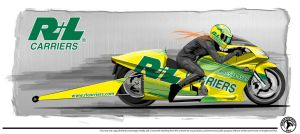 R+L Pro Stock Bike design by graphicwolf
