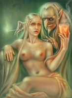 dwarf and Beauty by Girre