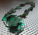 Green Cyber Necklace-Divulged by Craftcycle