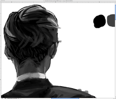 wip - back of some dude's head by eddykins