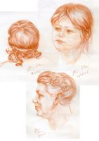 Head drawing - hair by hakepe