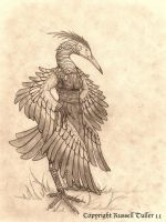 Anthro Blue Heron by RussellTuller